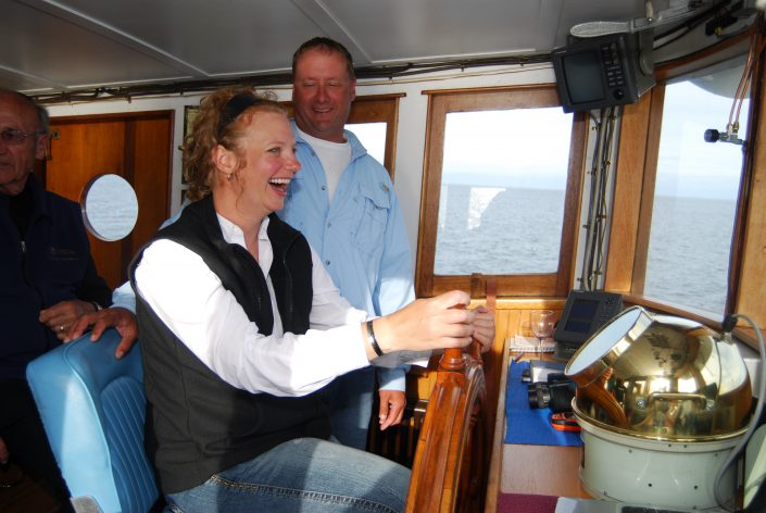 Fun and laughter aboard the MV Parry on the Inside Passage