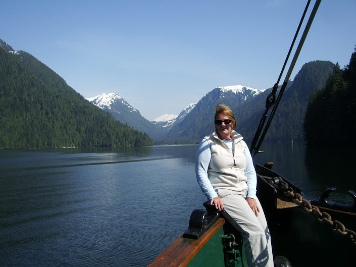 Mountains and inside passage BC